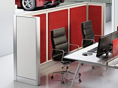 - Sound absorbing free standing workstation screen WALL SYSTEM – OPEN SPACE - Arcadia Componibili - Gruppo Penta