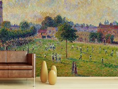 - Carta da parati con paesaggi VUE DE KEW'S GREEN A LONDRES EN 1892 - Wallpepper