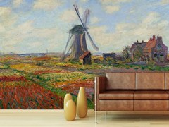 - Trompe l'oeil wallpaper CHAMPS DE TULIPES EN HOLLANDE - Wallpepper