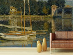 - Trompe l'oeil wallpaper IL PONTE D'ARGENTEUIL - Wallpepper