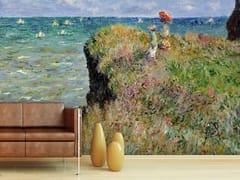 - Trompe l'oeil wallpaper LA PROMENADE SUR LA FALAISE, POURVILLE - Wallpepper