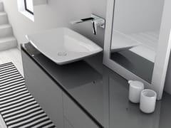 - Countertop Mineralmarmo® washbasin LA450   Countertop washbasin - INBANI