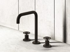 - 3 hole countertop washbasin tap FONTANE BIANCHE | 3 hole washbasin tap - Fantini Rubinetti