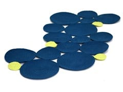 - Handmade technical fabric rug WATERLILY | Rug - Darono