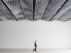 PANNELLO ACUSTICO A SOSPENSIONE IN BASOTECT®WAVE DESIGN ACOUSTIC ABSORBER - WAVE DESIGN SOLUTIONS