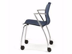 - Plastic chair with armrests with casters WEBBY 334R - TALIN
