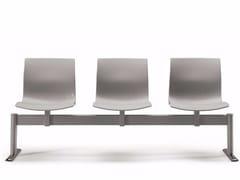 - Freestanding plastic beam seating WEBBY 336 B3 | Beam seating - TALIN