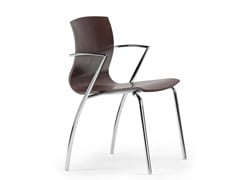 - Multi-layer wood chair with armrests WEBWOOD 354 - TALIN