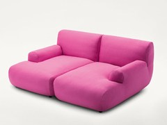 - Upholstered with removable cover fabric lounge chair WELCOME | Lounge chair - Paola Lenti