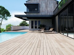 - Composite material outdoor floor tiles with wood effect EXTERNO WHITE - Woodco