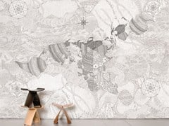 - Non-woven paper wallpaper WHOLEARTH - Moustache