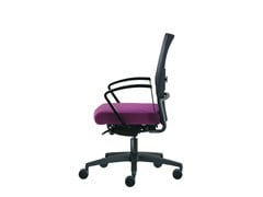 - Task chair with 5-Spoke base with casters WIN-R RETE | Task chair with casters - Sesta