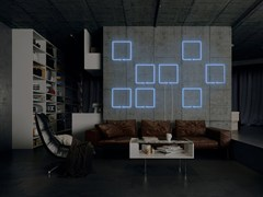- Wall-mounted neon light installation WINDOW - Sygns