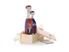 - Wooden sculpture WOODEN DOLL N.11 - Vitra