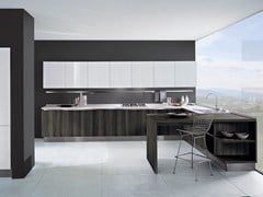- Lacquered wooden fitted kitchen TOUCH | Wooden kitchen - Oikos Cucine