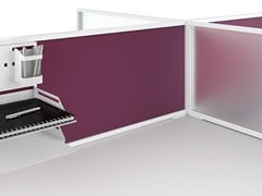 - Modular workstation screen desktop partition ISOLA | Workstation screen desktop partition - MANADE