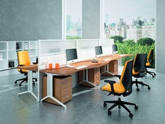- Sectional workstation desk X2 | Sectional office desk - Quadrifoglio Sistemi d'Arredo