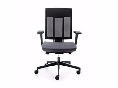 - Swivel task chair with 5-Spoke base with armrests XENON NET 100STL - profim