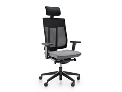 - Executive chair with 5-spoke base with headrest with casters XENON NET 110SFL - profim
