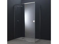 Box doccia angolare in acciaio e vetro con porta scorrevoleY10 | Box doccia angolare - AISI DESIGN