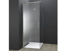 Box doccia angolare in acciaio e vetro con porta a battenteY2 | Box doccia angolare - AISI DESIGN