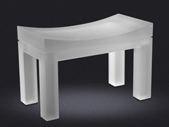- Resin bathroom stool YES LARGE | Bathroom stool - Vallvé Bathroom Boutique
