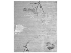 - Handmade rectangular rug YOKOHAMA SILVER - HENZEL STUDIO