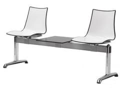 - Freestanding plastic beam seating ZEBRA BICOLORE | Freestanding beam seating - SCAB DESIGN