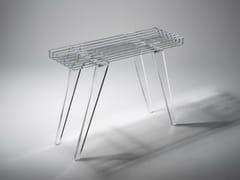 - Rectangular PMMA garden console ZEN 900 - Luxis