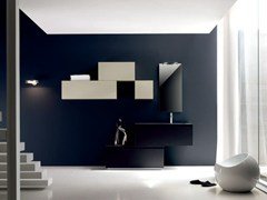 - Bathroom cabinet / vanity unit ZERO4 LAMINAM - COMPOSITION 10 - Arcom