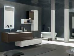 - Sistema bagno componibile ZERO4 MARMO - COMPOSIZIONE 15 - Arcom