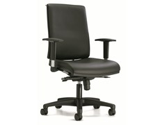 - Swivel leather task chair with casters ZERO7 | Leather task chair - Ares Line