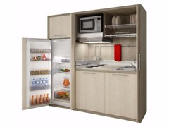 - Wooden mini kitchen ZEUS K129 - MOBILSPAZIO Contract