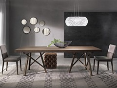 - Extending rectangular table ZEUS | Solid wood table - Pacini & Cappellini