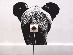 - Vinyl wall sticker ZOO ELEPHANT - Moustache