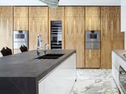 Custom natural stone kitchen with island Natural stone kitchen - TM Italia Cucine