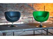 Swivel leather armchair 081   Swivel armchair - Domingo Salotti