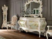 Luxury carved sideboard with figured mirror hardwood - Villa Venezia Collection - Modenese Gastone