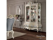 Glass cabinet carved painted hardwood furniture - Villa Venezia Collection - Modenese Gastone
