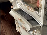 Hardwood glass cabinet painted carved luxury interiors - Villa Venezia Collection - Modenese Gastone