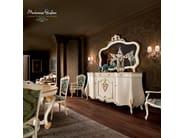 Sideboard handmade in hardwood figured mirror - Villa Venezia Collection - Modenese Gastone