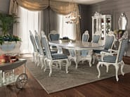 Dining set hardwood luxury interior design - Villa Venezia collection - Modenese Gastone