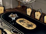 Extendable black hardwood handmade dining table - Villa Venezia Collection - Modenese Gastone