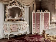 Painted and inlaid luxury dresser carved handmade in Italy - Villa Venezia Collection - Modenese Gastone