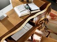 Walnut writing desk covered with crocodile leather - Villa Venezia Collection - Modenese Gastone