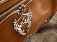 Rounded writing desk silver leaf walnut hardwood - Villa Venezia Collection - Modenese Gastone