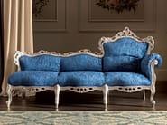 Chaise longue velvet upholstered seat handmade embroidery - Villa Venezia Collection - Modenese Gastone