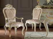 Padded chair with armrests high quality embroidered fabric - Villa Venezia Collection - Modenese Gastone