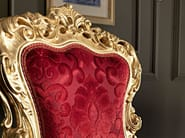 Velvet seat gold leaf carves luxury classic chair - Villa Venezia Collection - Modenese Gastone