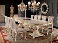 One piece inlaid table and chairs with velvet fabric - Villa Venezia Collection - Modenese Gastone